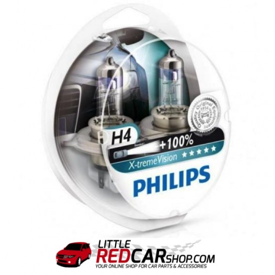 philips x treme vision h4 h7 twin pack headlight bulbs little red car shop car parts. Black Bedroom Furniture Sets. Home Design Ideas