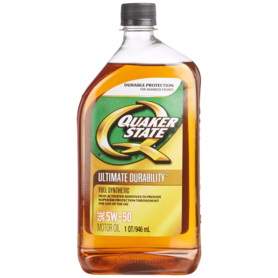 Quaker state 5w 50 ultimate durability full synthetic for 5w 50 synthetic motor oil