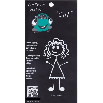 Stickman Family Car Decal Stickers