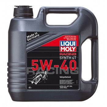 Liqui Moly Racing Synth 4T 5W40 Fully Synthetic Motorbike Oil - 4 Litres