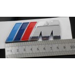 BMW M Chrome reflective plastic boot emblem badge ///M