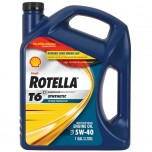 SHELL ROTELLA  T6 Fully Synthetic Engine Oil 5W-40  - 3.785 L For diesel/petrol/bikes (JASO MA)