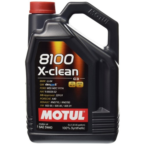 motul x clean 8100 5w 40 fully synthetic engine oil 5l. Black Bedroom Furniture Sets. Home Design Ideas