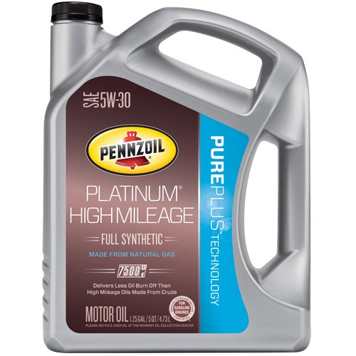 On sale pennzoil platinum 5w30 high mileage pure plus for Best high mileage synthetic motor oil
